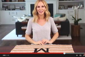 DIY monogrammed doormat tutorial - video