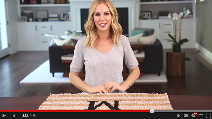 DIY monogrammed doormat tutorial - video