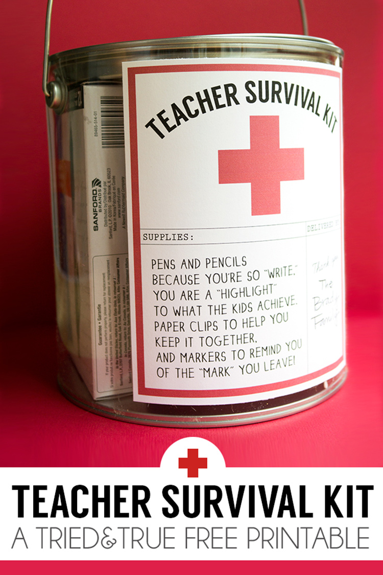 DIY teacher survival kit!
