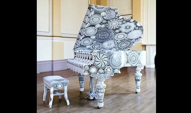knitted grand piano