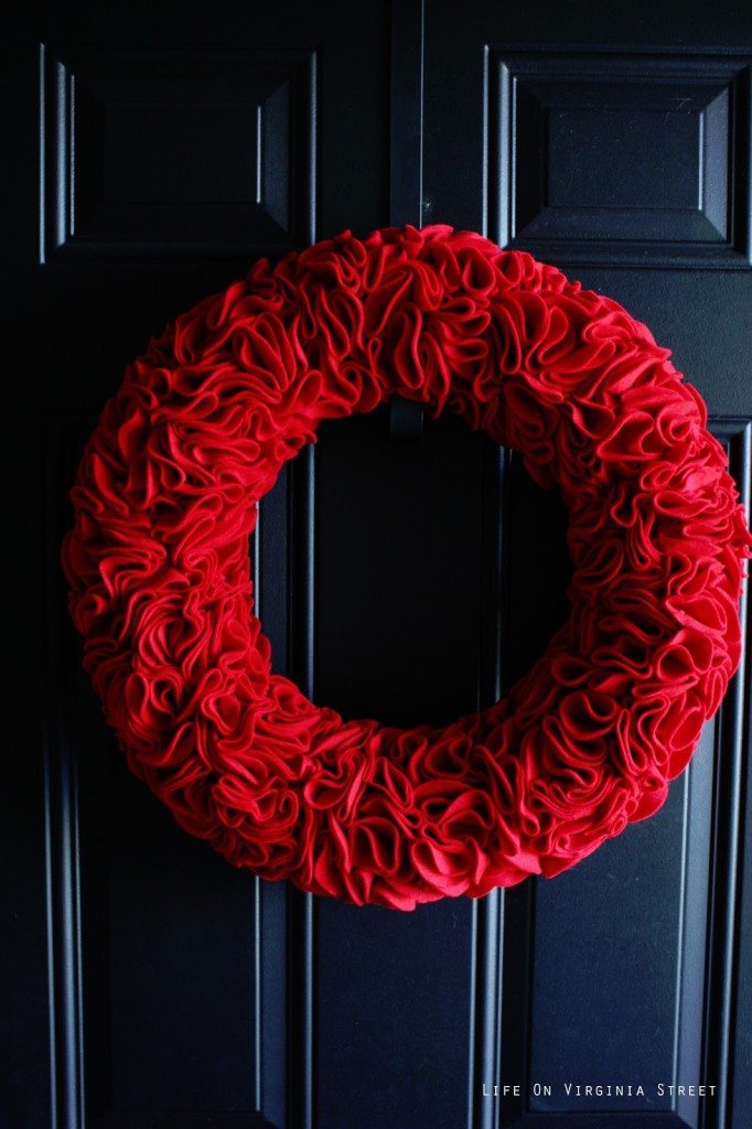 Ruffle wreath tutorial