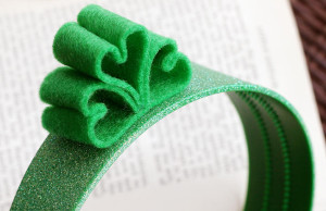 Felt Looped Shamrock Headband