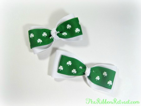 Super Simple St. Patrick's Day Hair Bows