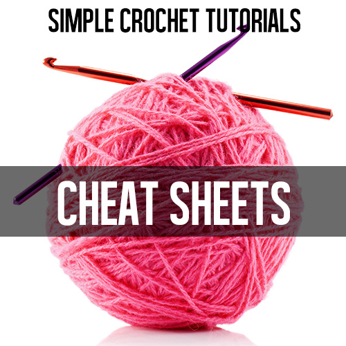 Crochet Stitches Cheat Sheet : Cheat Sheets for Crocheters - Andreas Notebook