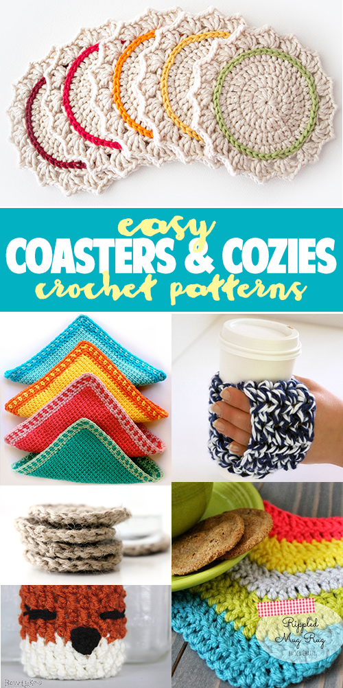 FREE CROCHET TUTORIALS: coasters and cozies