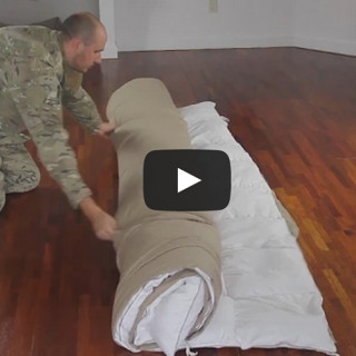 Put a duvet inside a duvet cover in under a minute!