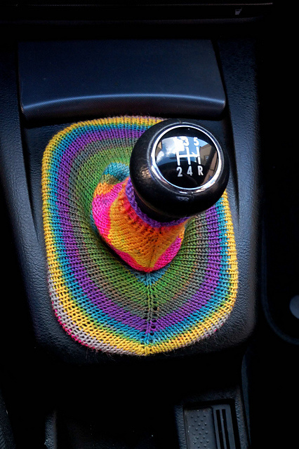 Knit your gear shift a cozy