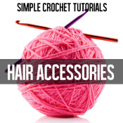FREE CROCHET TUTORIALS: easy hair accessories