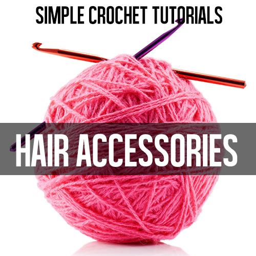 FREE CROCHET TUTORIALS: easy hair accessories