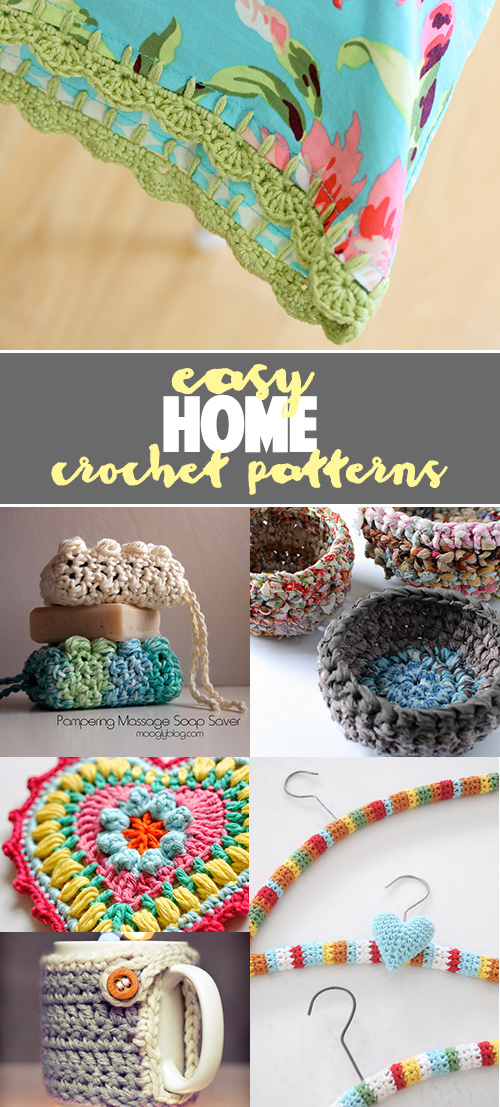 free and quick crochet tutorials for home
