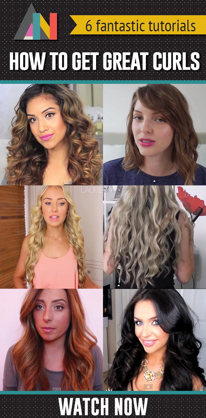 how to get great curls - VIDEO tutorials