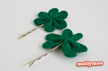 Super Simple Clover Hair Pins