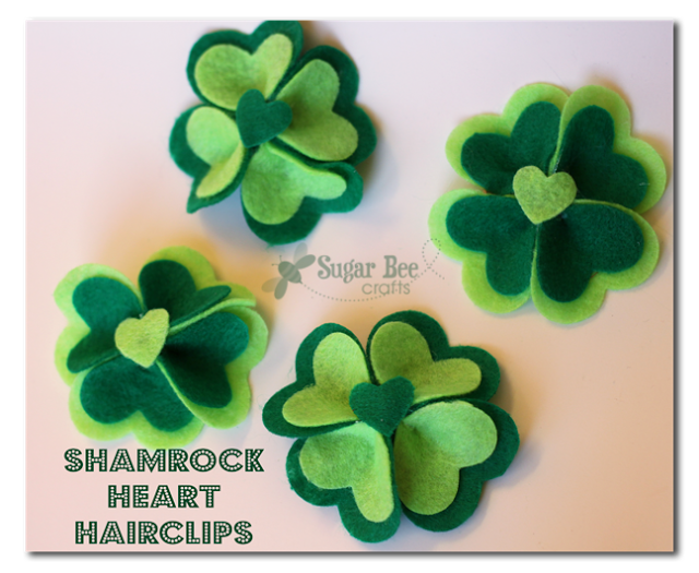 Shamrock Hearth Hairclips