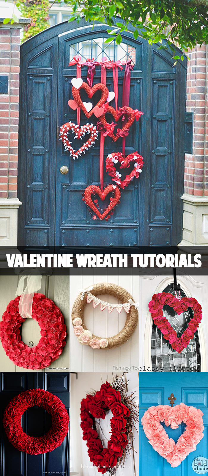 Valentine wreath tutorials