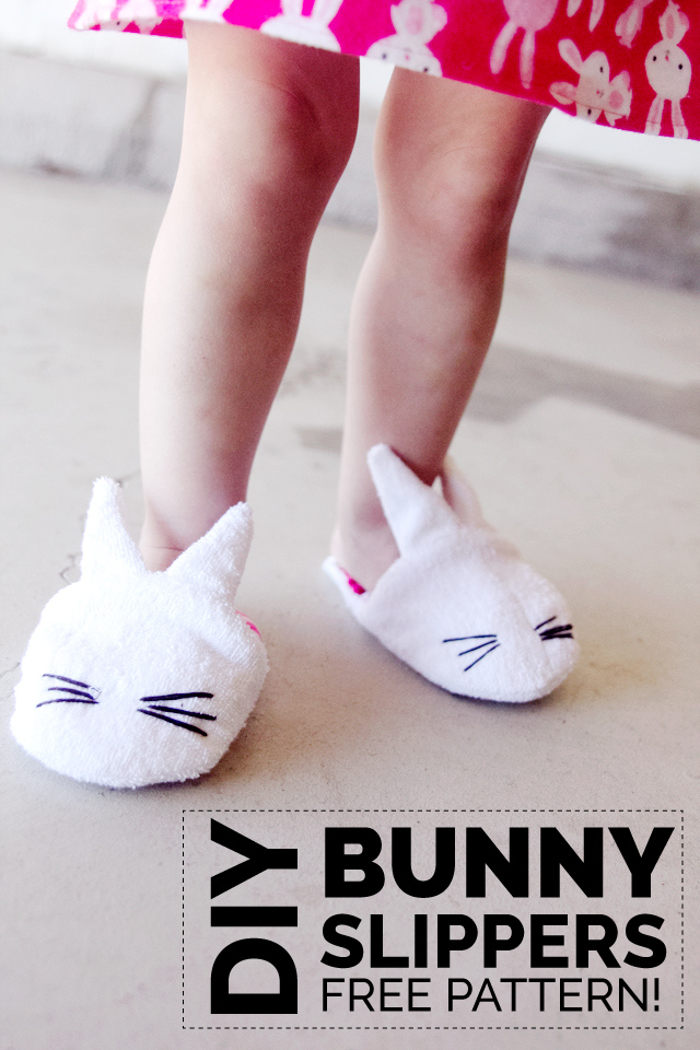 Free bunny slippers pattern