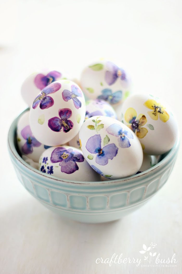 Watercolor eggs. GORGEOUS.
