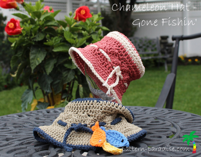 Gone Fishin' crochet hat tutorial