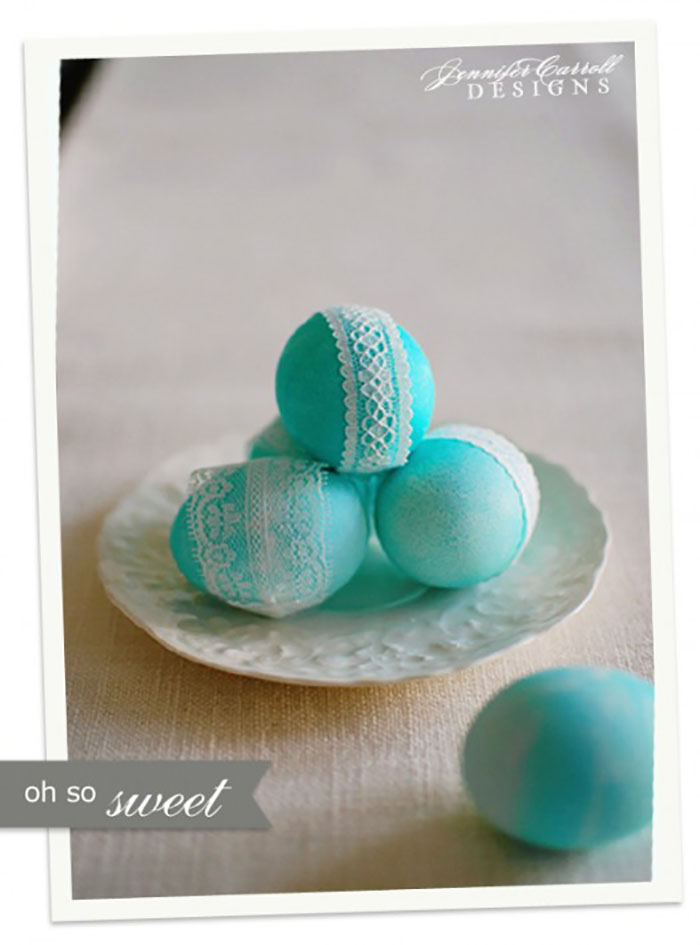 Gorgeous lace eggs - DIY