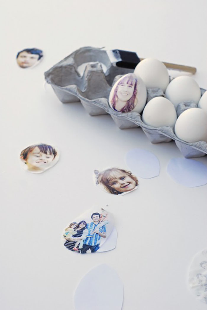 Photo decoupage egg