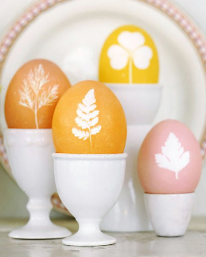 Beautiful nature relief eggs