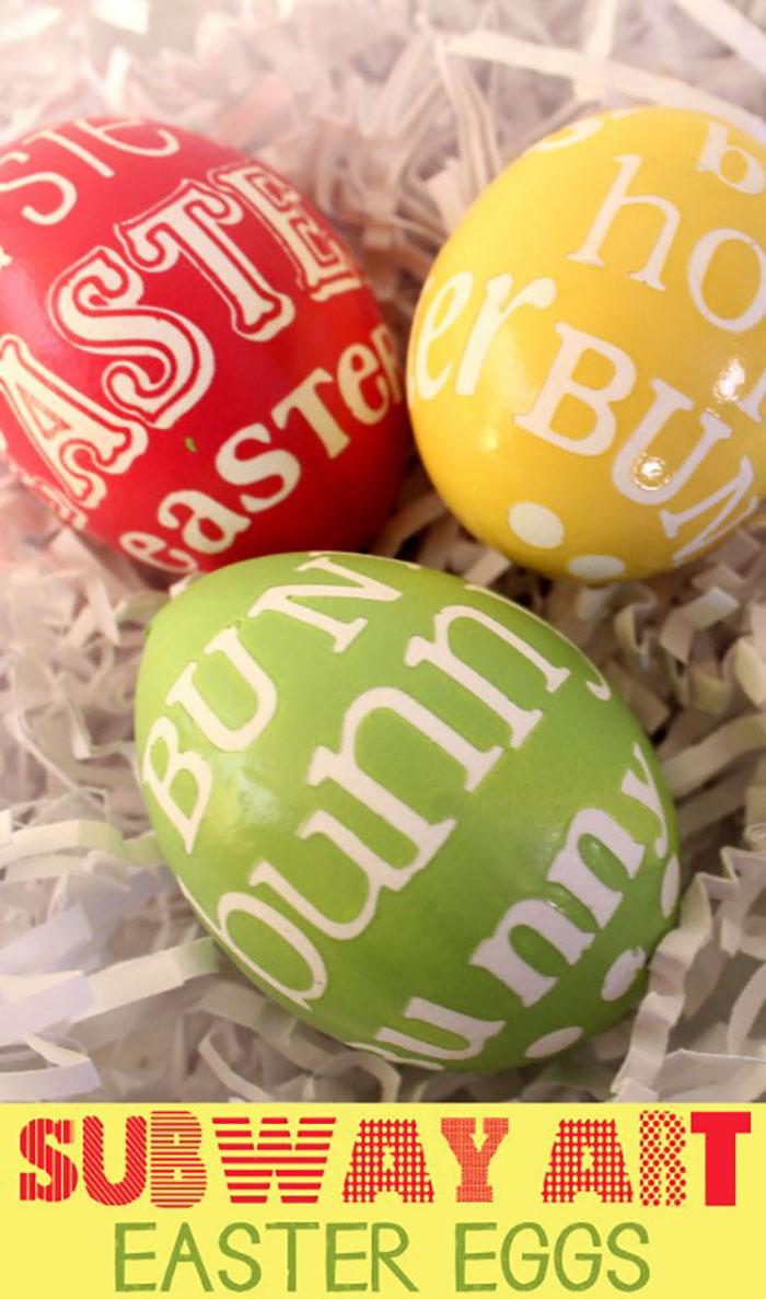 Subway art eggs