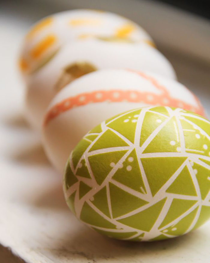 A new twist on washi tape eggs!