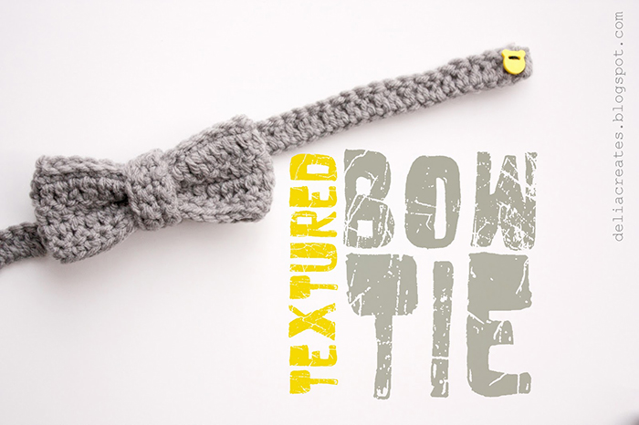 Adorable Crocheted Bow Tie FREE Tutorial