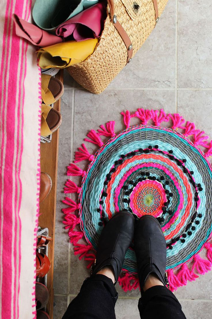 Who knew weaving a rug was this simple?