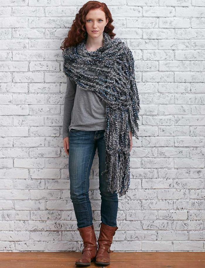 Chunky arm knit wrap tutorial
