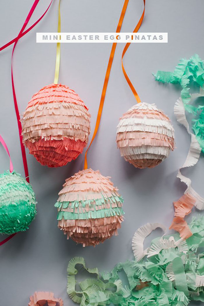 DIY piñata eggs