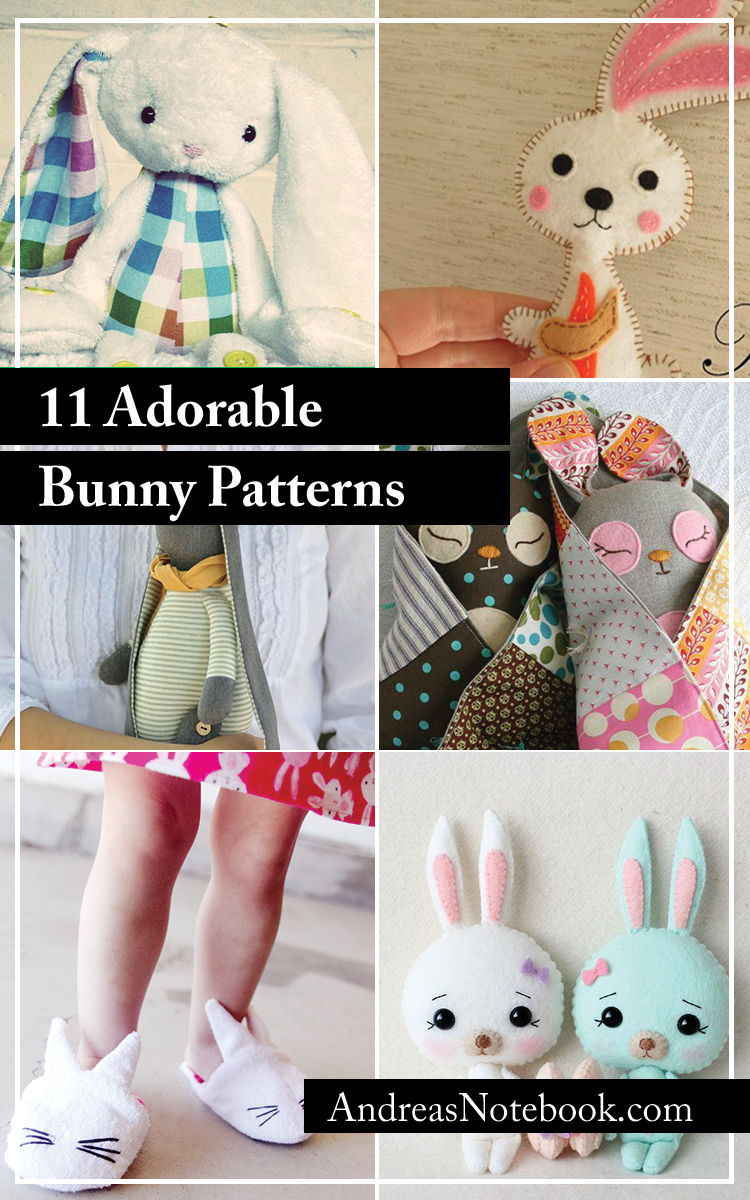 11 Free Bunny Sewing Patterns