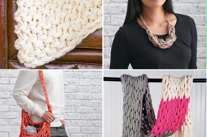 14 arm knitting tutorials