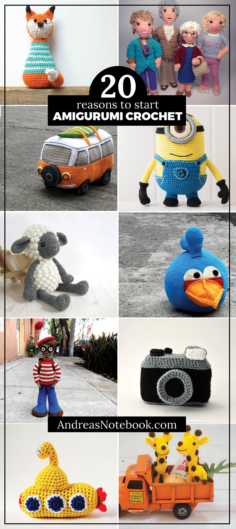 20 amigurumi crochet patterns you'll want