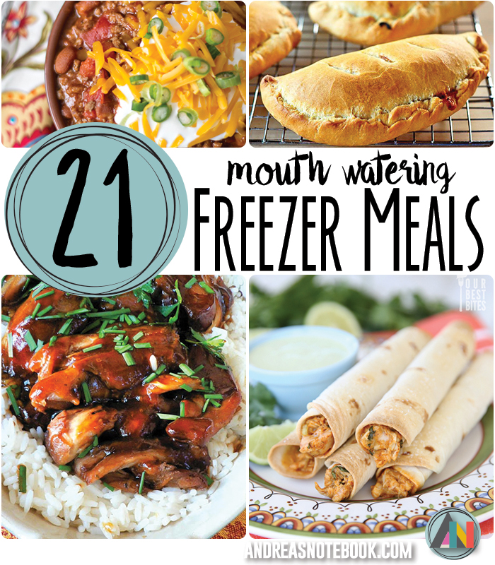 21 mouth watering freezer meals