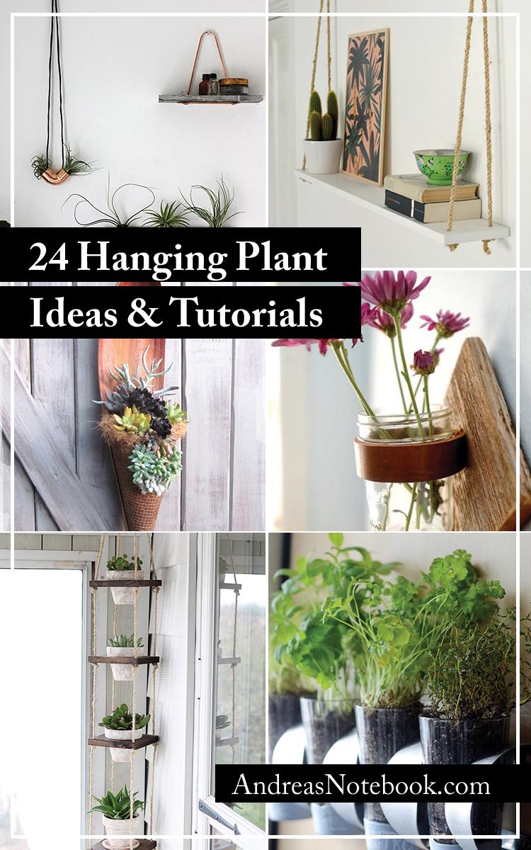 24 Hanging Plant Ideas & Tutorials