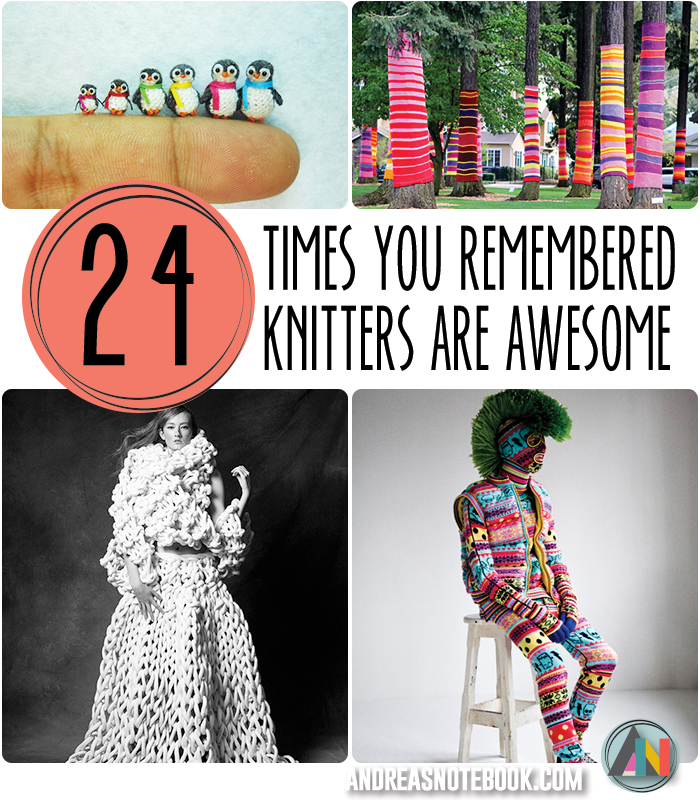 24 awesome knitted projects