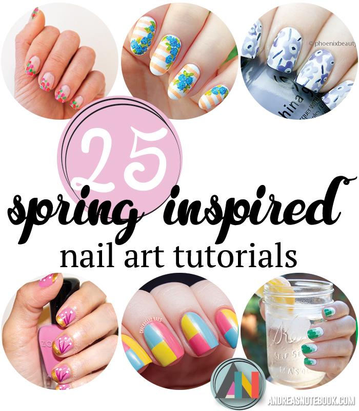 25 spring nail art tutorials 25 spring inspired nail art tutorials prinsesfo Choice Image