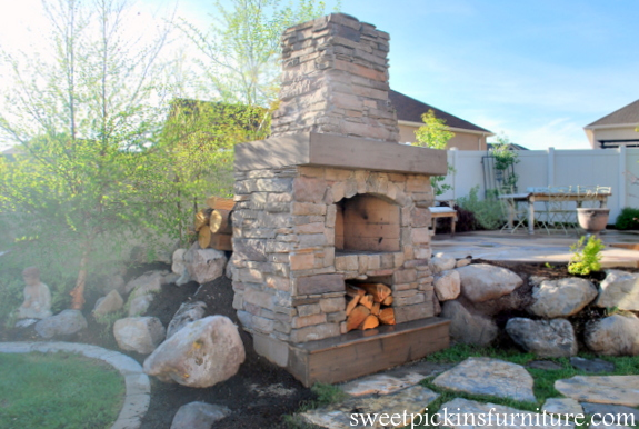 DIY Outdoor Fire Place Tutorial