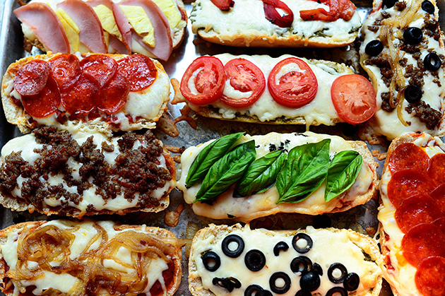 Everyone will love dinner when they get to choose their own pizza toppings!