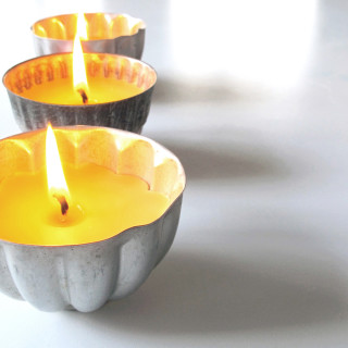 Homemade DIY Beeswax Candles