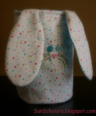 Great bunny bucket style bag for hunting Easter eggs