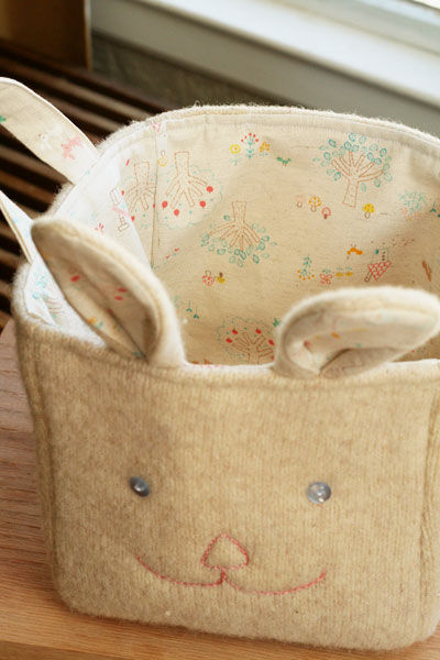 Upcycle an old sweater and make an adorable basket