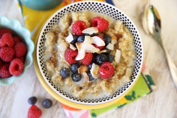 Coconut and Berries Quinoa Breakfast