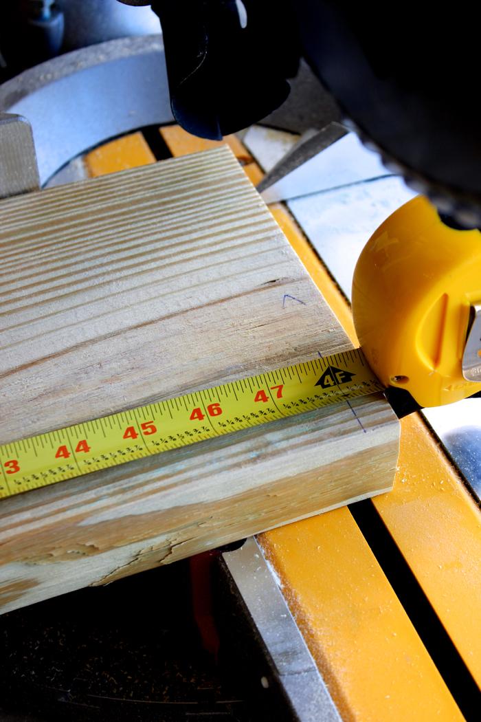 DIY Garden Box--Cutting board down to size