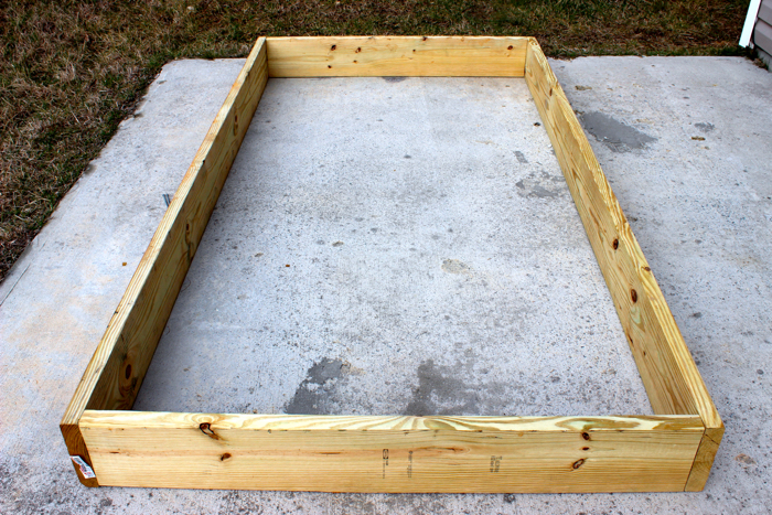 DIY Garden Box--Setting it up