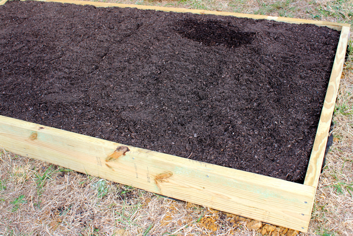 DIY Garden Box--Fill it with dirt