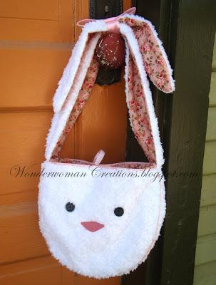 Pattern to make a floppy ear bunny purse