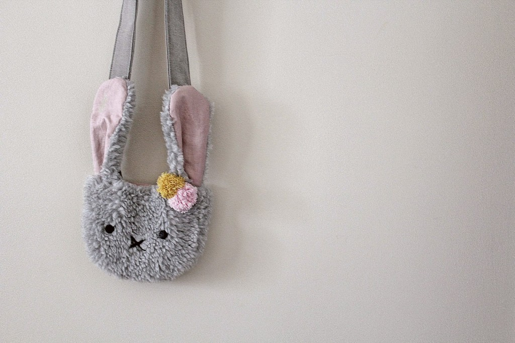 Super soft fuzzy bunny purse