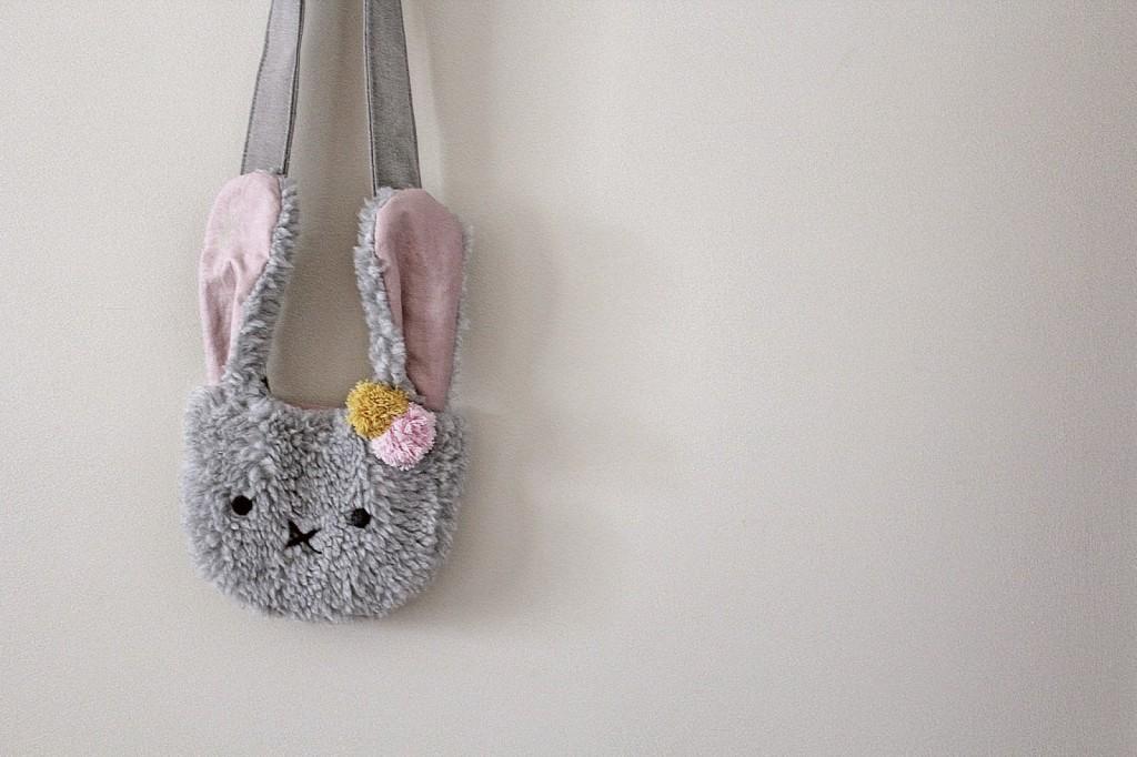Super soft fuzzy bunny purse