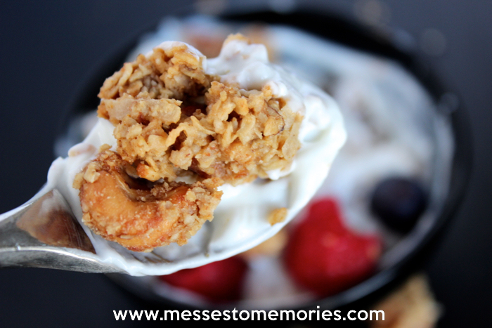 Fluffy Peanut Butter Homemade Granola